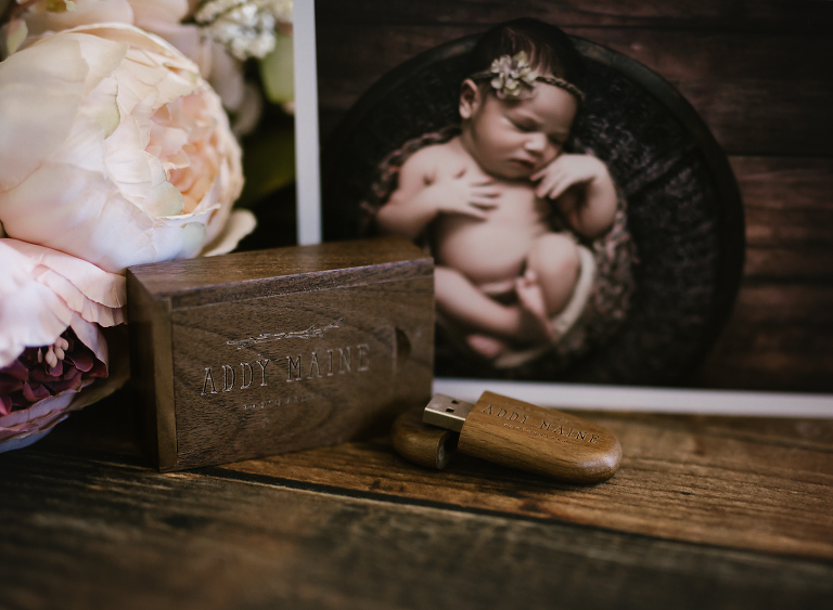 addy maine photography products, usb, newborn photography